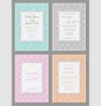 set elegant wedding invitation in pastel vector image