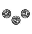 set three badges - editors choice customers vector image