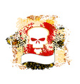 skull grunge background vector image