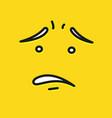 smile icon template design oops emoticon vector image