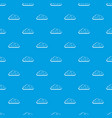 snow cloud pattern seamless blue vector image vector image