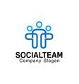 Social Team Design vector image vector image
