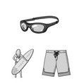surfing and extreme monochrome icons in set vector image vector image