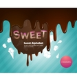 Sweet alphabet vector image