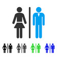 toilet persons flat icon vector image vector image