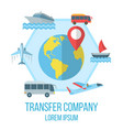 transfer company flat poster vector image