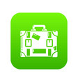 travel suitcase icon simple black style vector image vector image