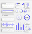 user interface elements sliders for websites vector image