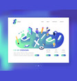 ux and ui design landing page template mobile vector image vector image