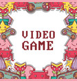 videogame play game simulator background vector image vector image