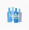 vodka bottle logo vodka color banner on white vector image vector image