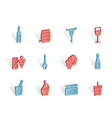 wine and drink icons vector image vector image