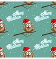 Xmas Seamless Pattern Funny Sparrows vector image vector image