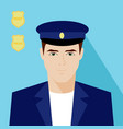 young man in uniform vector image