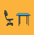 office chair and table vector image