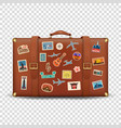 3d realistic retro leather brown threadbare vector image vector image