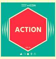 action button symbol vector image