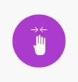 arrow four finger gesture pinch vector image