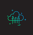 artificial cloud intelligence icon design vector image