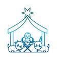 baby jesus icon vector image vector image