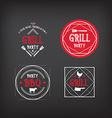 Barbecue party icon BBQ menu design vector image vector image