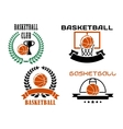 Basketball club emblems and symbols templates vector image vector image