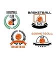 basketball club emblems and symbols templates vector image vector image