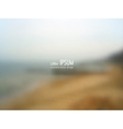 blurred background - Seaside vector image