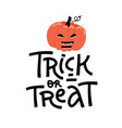 bright halloween card in eps10 cute trick vector image