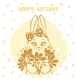 bunny silhouette card vector image vector image