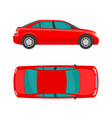 car view top and side flat styled vector image vector image
