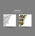 cards with tropic flower - orchid vector image vector image