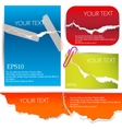 colorful banners torn paper vector image vector image