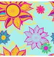 Colorful flowers seamless pattern background vector image vector image