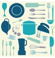 Colorful kitchen set vector image vector image