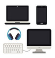 computer notebook mobile smartphone pc vector image vector image