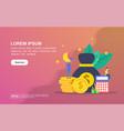 concept financial modern conceptual for banner vector image