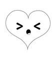 dotted shape sleeping heart passion kawaii vector image vector image