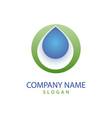 drop logo vector image
