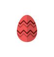easter egg flat color icon celebration vector image vector image