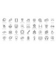 entertainment - outline web icon collection vector image vector image
