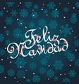feliz navidad greeting card template for vector image