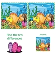 Find ten differences vector image vector image
