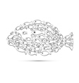 fish shaped abstract vector image vector image