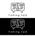 fishing talk concept design template vector image vector image