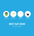 flat icon celebrate set monster magic ghost vector image vector image