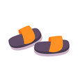 flat slippers vector image