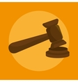 gavel icon design vector image