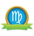 Gold Virgo logo vector image vector image
