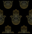 hand fatima seamless pattern vector image